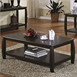 Coaster Marina Coffee Table with 1 Shelf, Cappuccino