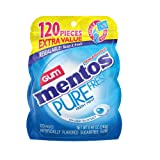 Mentos Pure Fresh Sugar-Free Chewing Gum with Xylitol, Fresh Mint, Non Melting, 120 Piece Bulk Resealable Bag (Tamaño: Pack of  1)