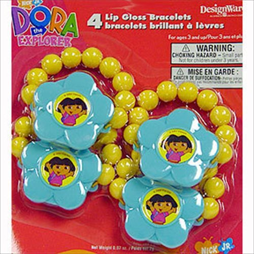 Dora The Explorer Lip Gloss Bracelets (4 - 1