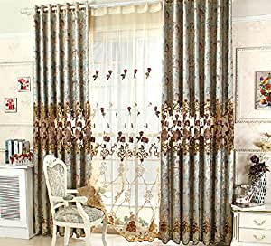 Luxury Curtains For Living Room Embroidered Curtains For Bedroom Tulle Blinds