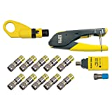 Coaxial Cable Tools, Tester and Connectors, Crimper, Stripper, Tracer and F Connector Klein Tools VDV002-818