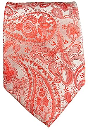 Krawatte 100% Seide rot paisley by Paul Malone