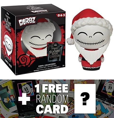 Santa Jack Skellington: Funko Dorbz x Nightmare Before Christmas Mini Vinyl Figure + 1 FREE Classic Disney Trading Card Bundle [63863] (Santa Jack Funko compare prices)