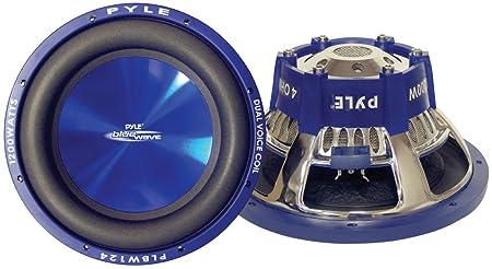 Pyle PL-BW124 Caisson de basses Noir, Bleu