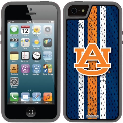 Auburn - Jersey Stripe design on a Black iPhone 5s / 5 Guardian Case by Coveroo at Amazon.com
