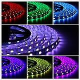 Salcar 5m RGB LED Strip mit 300 LEDs (SMD5050), 16 Farben...