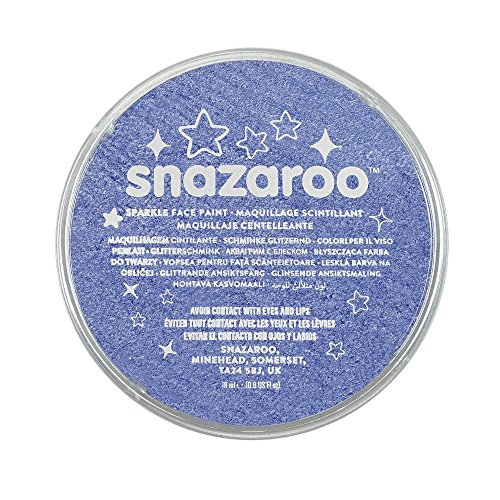 Snazaroo Sparkle Face Paint, 18ml, Sparkle Blue