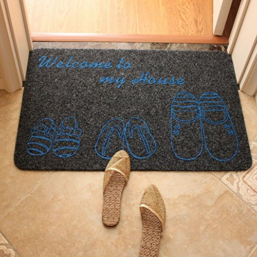 E.a@market Printing Non-slip Door Mat Bathroom Mat (Grey)