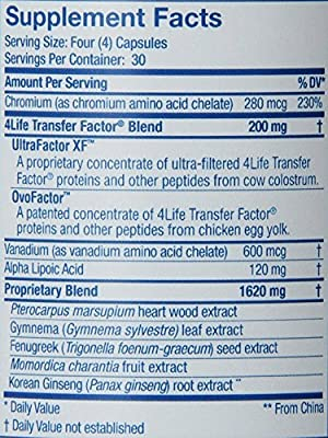 4Life Transfer Factor GluCoach by 4Life - 120 ct/bottle [Health and Beauty]