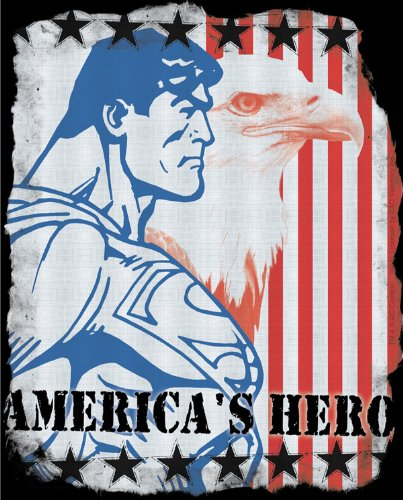 Licenses Products DC Comics Superman American Hero Sticker - 1