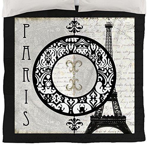Thumbprintz Duvet Cover, King, Paris Circle Eiffel Tower front-431301