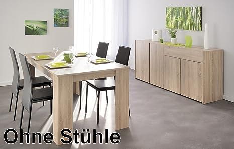 Esszimmer Karel 32 Eiche Sonoma Nb Tisch Esstisch Sideboard Anrichte Esszimmertisch Esszimmer Wohnzimmer