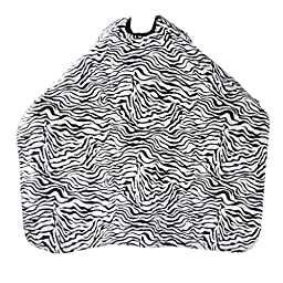 Barber Hair Beauty Salon Shampoo Style Cape Hairdressing Gown Zebra Print