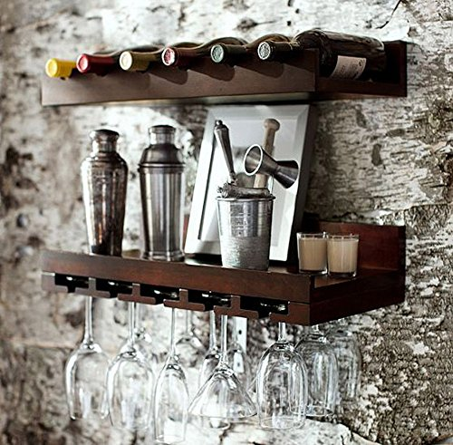 Jangir JDBF211 Solid Wood Bar Unit (Glossy Finish, Brown)