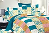 Trance Duvet Cover Queen Printed Checks with 2 pillow covers