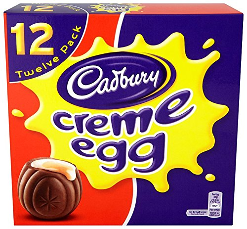 Cadbury Easter Chocolate Creme Egg, 4-Count, 4.8 oz Boxes (Pack of 6)