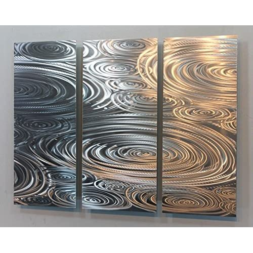 Liquid Sunshine Metal Wall Sculpture Silver Metal Wall Art And Home Decor