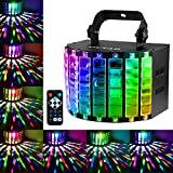 OUTAD DJ Lights Sound Activated Stage Lighting MultiColors LED Wide Beam Disco Light by IR Remote and DMX 512 Control for Party Stage Pub Club Dance (Metal Casing)