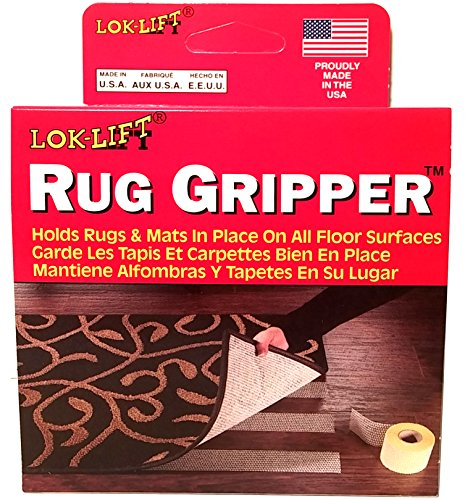Vantage Industries Lok Lift Rug Gripper Anti-Slip Tape for Runners, 2.5-Inches by 25-Feet