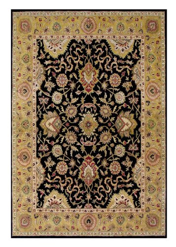 ZnZ Rugs Gallery, 3029_6x9, Hand Made Olive Green New Zealand Blend Wool Rug, 1, Moon Indigo, Ashley Blue, Black,6x9'