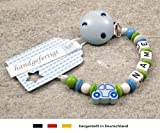 kleinerStorch kS-079-1 Baby Schnullerkette mit Namen -...