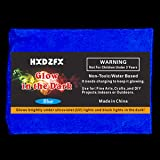 HXDZFX Glow in The Dark Pigment Powder 2 Pack 0.53oz UV Powder Safe Non-Toxic for Slime,Nails,Epoxy Resin,Acrylic Paint,Halloween,Fine Art and DIY Crafts (Blue) (Color: Blue)