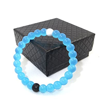 Amazon.com: 7th Element Silicone Beaded Bracelet Bangle Mud From ...