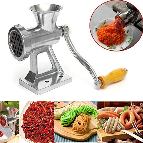 Hanperal 4 Functions Hand Operated Crank Meat Grinder Mincer Cast Iron Pasta Maker Manual (Hand Crank Meat compare prices)