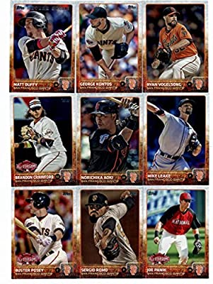 2015 Topps Baseball Cards San Francisco Giants Complete Master Team Set (Series 1 & 2 + Update - 45 Cards- World Series Champions) With (3) Madison Bumgarner, Brandon Belt, Hunter Pence, Tim Hudson, Tim Lincecum, Gary Brown, Santiago Casilla in Protective