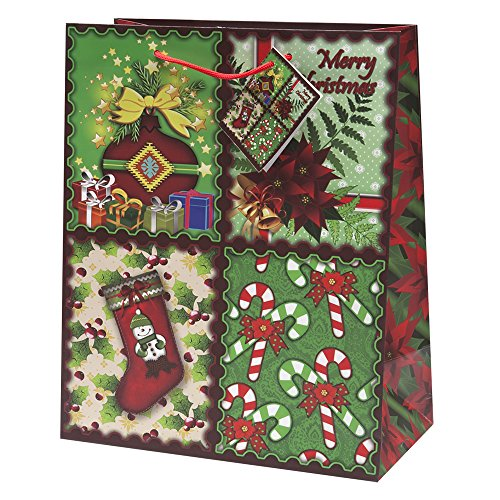 Pack assorted christmas gift bags large