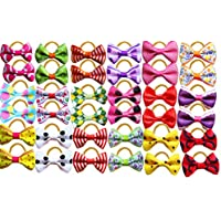 Yagopet 60pcs/30pairs Cute New Dog Hair Bows Rubber Bands Top Quality Dog Topknot Mix Styles Dog Bows Pet Grooming...