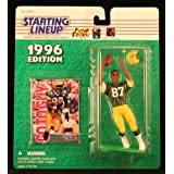 ROBERT BROOKS / GREEN BAY PACKERS 1996 NFL Starting Lineup Action Figure & Exclusive NFL Collector Trading Card ~ Starting Line Up