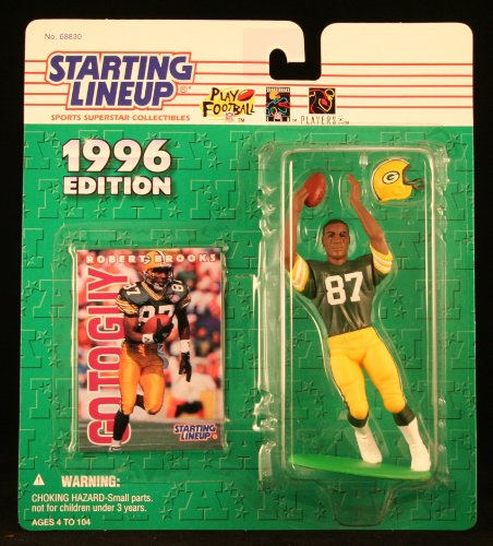 ROBERT BROOKS / GREEN BAY PACKERS 1996 NFL Starting Lineup Action Figure & Exclusive NFL Collector Trading Card