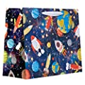 Jillson Roberts Large Gift Bags, Space Race, 6-Count (LT282)