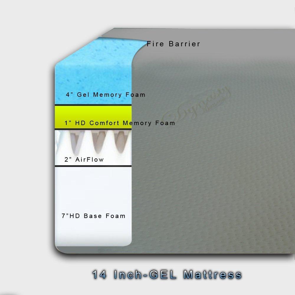 DynastyMattress Split King 14-Inch CoolBreeze GEL Memory Foam Mattress with S-Cape Adjustable Beds Set Sleep System Leggett & Platt Made in USA!