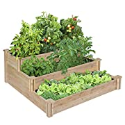 Greenes 4 Ft. X 4 Ft. X 21 In. Tiered Cedar Raised Garden Bed