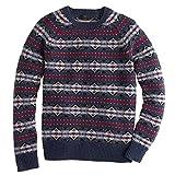 (ジェイ クルー) J.CREW 《Lambswool Fair Isle Sweater:ラムウール フェアアイル柄 ニット セーター<Hthr Navy>》 [並行輸入品]