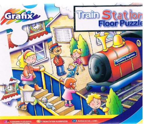 Cheap Grafix Train Station Floor Puzzle (45 Pieces for Kids) (B004JHA49M)