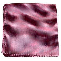 PS-A-521 - Silk Pocket Square - Pink - Black