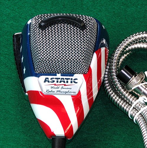 Astatic-302-10309-Stars-N-Stripes-Noise-Canceling-4-Pin-CB-Microphone