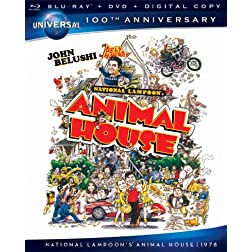 National Lampoon's Animal House [Blu-ray + DVD + Digital Copy] (Universal's 100th Anniversary)