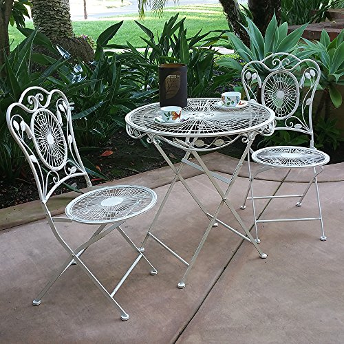 Modern Home Bordeaux Antiqued Iron 3pc Folding Bistro Set 1