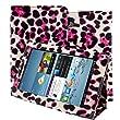 kwmobile Housse en cuir synth�tique chic pour Samsung Galaxy Tab 2 7.0 P3110 / P3100 / P3113 en Rose avec fonction support pratique et Mod�le L�opard