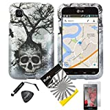 4 items Combo: ITUFFY (TM) LCD Screen Protector Film + Mini Stylus Pen + Case Opener + Design Rubberized Snap... by Snaponcase