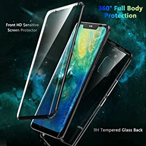 360° Full Body Case for Huawei Mate 20 Pro,[Front and Back
