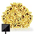 Solar Powered Outdoor LED String Light, GDEALER 72ft 200 LED 8 Modes Solar Powered Waterproof Starry Fairy Outdoor String Lights Christmas Decoration Lights for Patio Gardens Homes Landscape Wedding Party