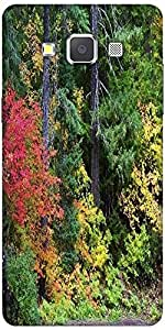 Snoogg autumn forest background Hard Back Case Cover Shield For Samsung Galaxy A7