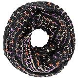 Luxury Divas Popcorn Knit Infinity Scarf