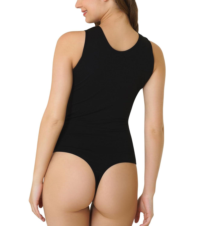 Kefali Cologne® Stringbody Damenbody Achselshirt Unterhemd Shirt Body Bodysuit Thong Tencel online kaufen