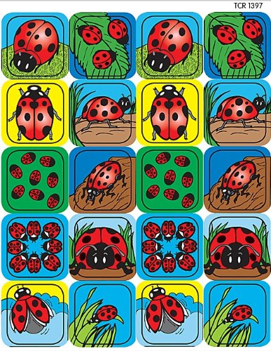 Teacher Created Resources Ladybugs Stickers, Multi Color (1397)